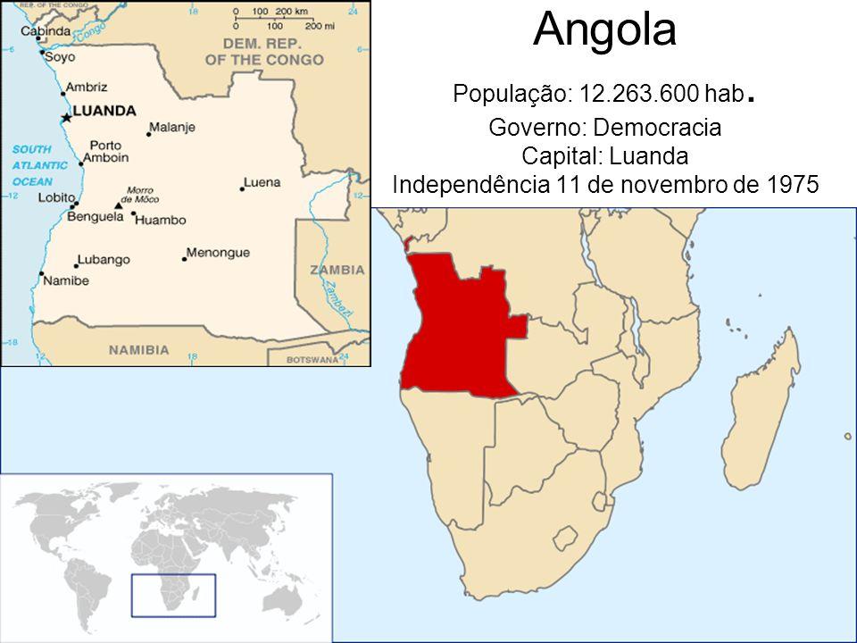 Angola População: 12.263.600 hab.