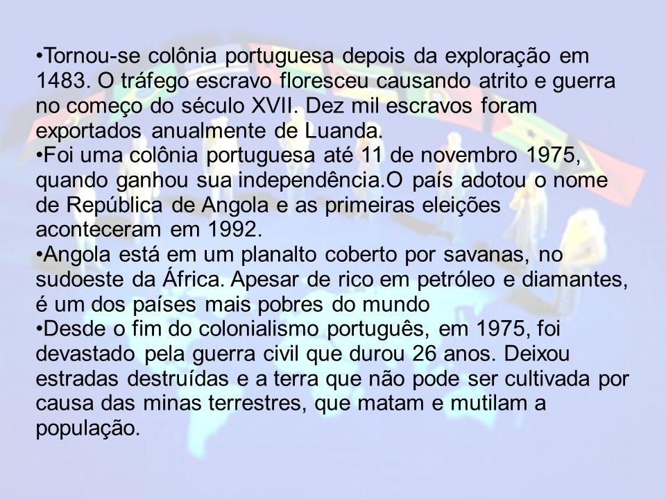 Tornou-se colônia portuguesa depois da exploração em 1483.