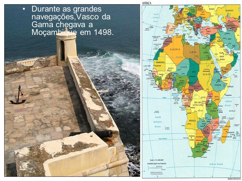Havia rotas de comércio com povos árabes. Já existiam cidades edificadas nos litorais.