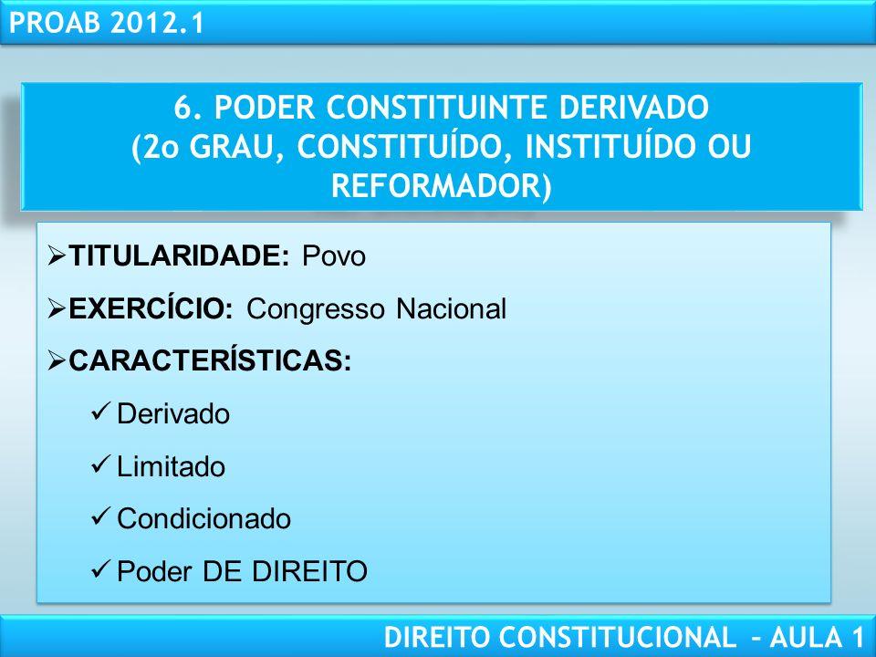 RESPONSABILIDADE CIVIL AULA 1 PROAB 2012.1 DIREITO CONSTITUCIONAL – AULA 1 5. EFICÁCIA DA NOVA CONSTITUIÇÃO RETROATIVIDADE MÁXIMA RETROATIVIDADE MÉDIA
