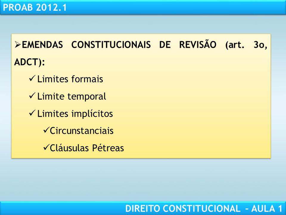 RESPONSABILIDADE CIVIL AULA 1 PROAB 2012.1 DIREITO CONSTITUCIONAL – AULA 1 LIMITES MATERIAIS IMPLÍCITOS: TITULARIDADE E EXERCÍCIO DO PODER CONSTITUINT