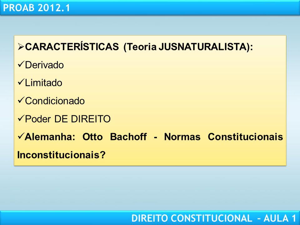 RESPONSABILIDADE CIVIL AULA 1 PROAB 2012.1 DIREITO CONSTITUCIONAL – AULA 1 25 QUESTÕES PARA COMENTAR