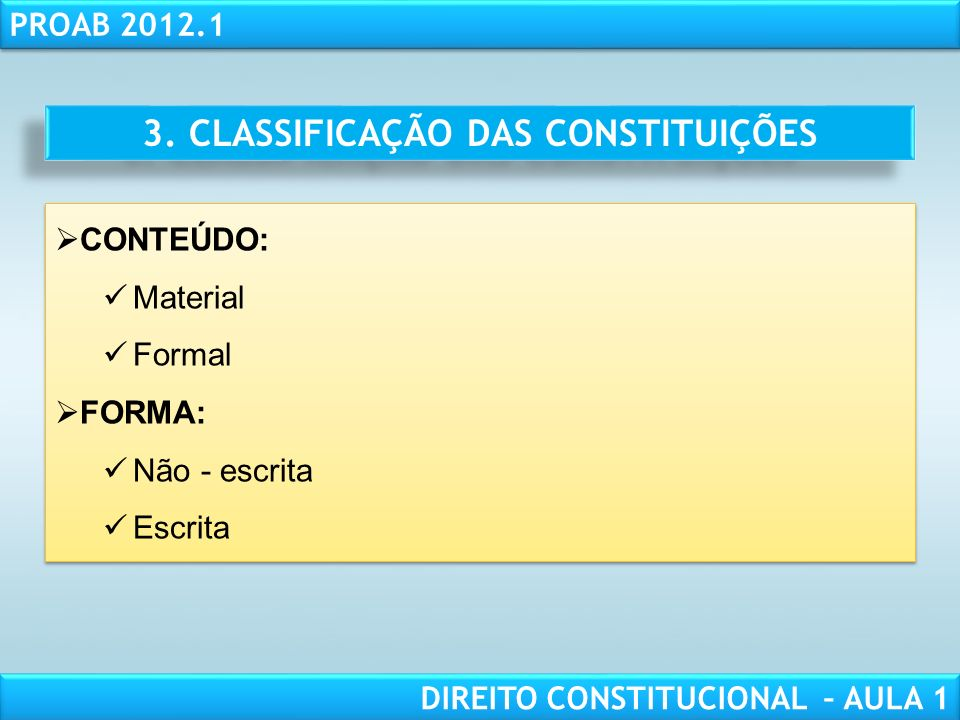 RESPONSABILIDADE CIVIL AULA 1 PROAB 2012.1 DIREITO CONSTITUCIONAL – AULA 1 LIMITES FORMAIS: CONSTITUTIVA (60, §2o, CF): Casa Inicial e Casa Revisora 2 Turnos Maioria de 3/5 de todos os membros Ausência de deliberação executiva (sanção e veto) Princípio da Irrepetibilidade (60, §5o, CF) LIMITES FORMAIS: CONSTITUTIVA (60, §2o, CF): Casa Inicial e Casa Revisora 2 Turnos Maioria de 3/5 de todos os membros Ausência de deliberação executiva (sanção e veto) Princípio da Irrepetibilidade (60, §5o, CF)