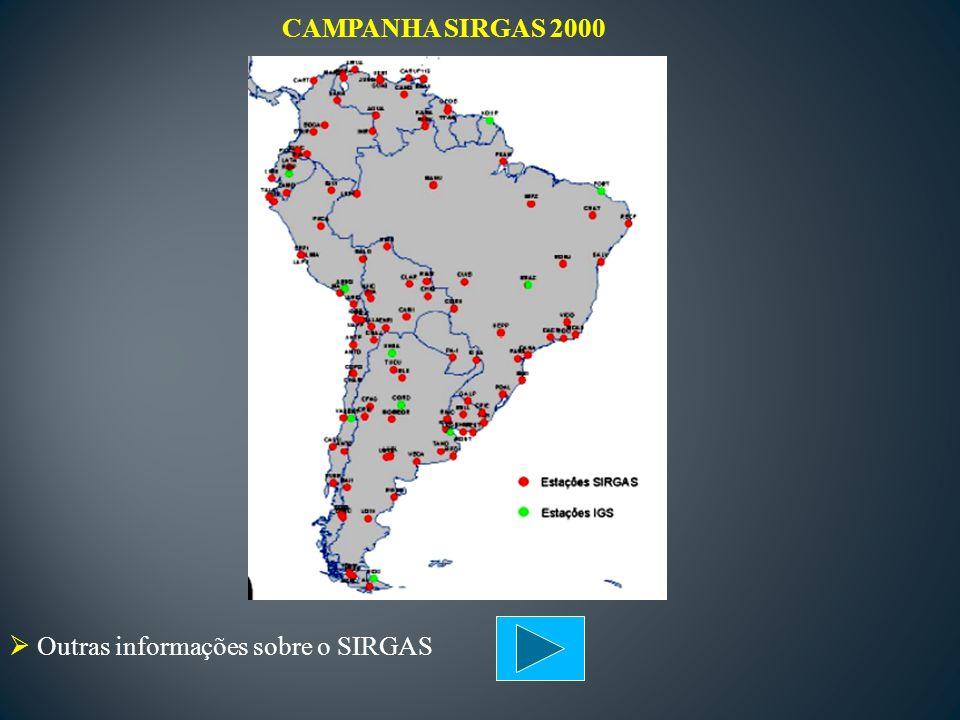 Outras informações sobre o SIRGAS CAMPANHA SIRGAS 2000