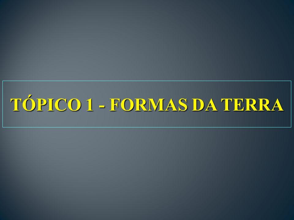 TÓPICO 1 - FORMAS DA TERRA