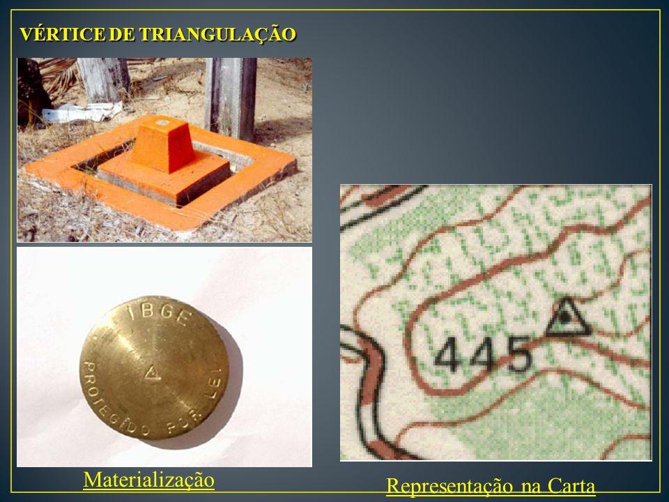 Materialização Representação na Carta VÉRTICE DE TRIANGULAÇÃO
