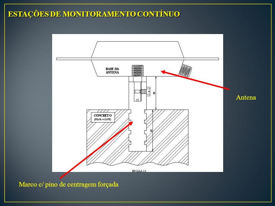 ESTAÇÕES DE MONITORAMENTO CONTÍNUO Marco c/ pino de centragem forçada Antena