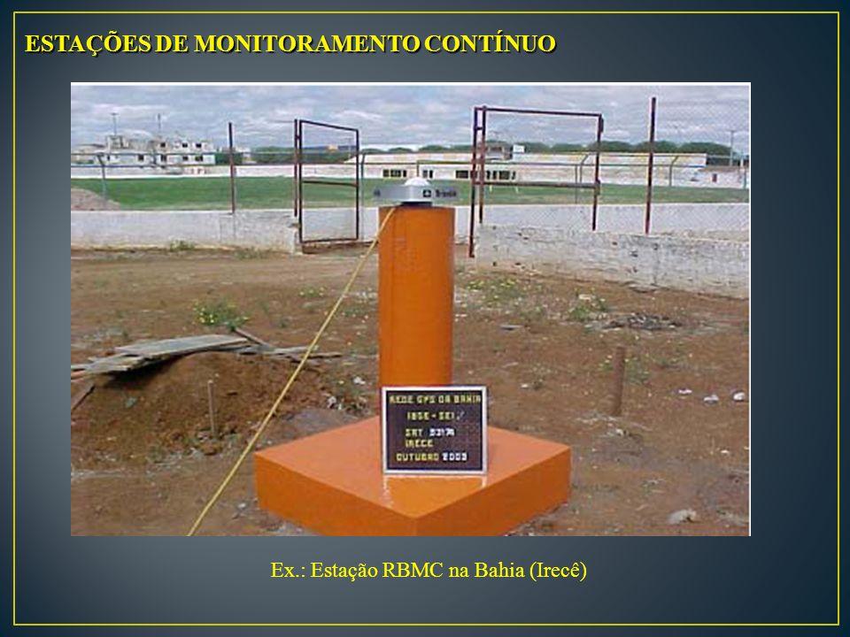 ESTAÇÕES DE MONITORAMENTO CONTÍNUO Ex.: Estação RBMC na Bahia (Irecê)