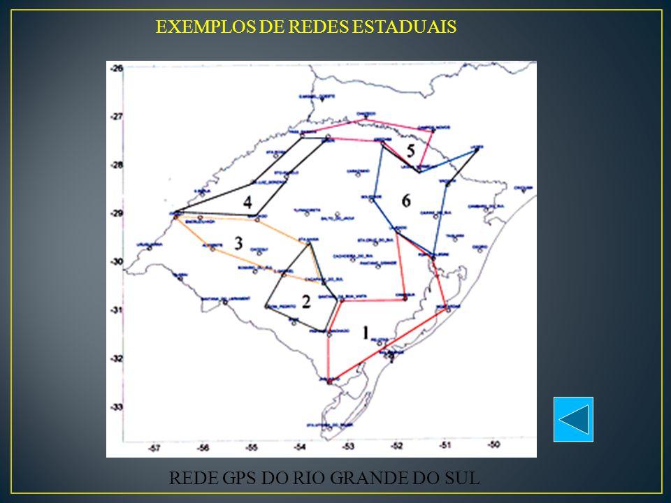 EXEMPLOS DE REDES ESTADUAIS REDE GPS DO RIO GRANDE DO SUL