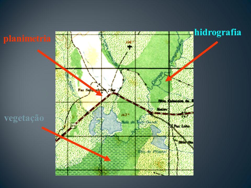 vegetação hidrografia planimetria