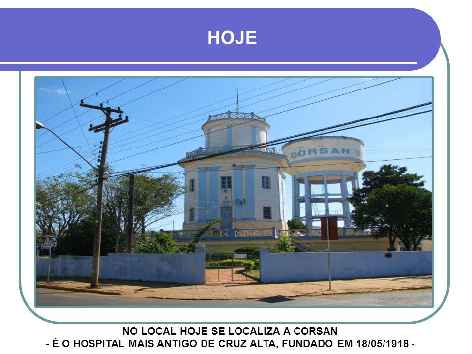 HOSPITAL SÃO VICENTE DE PAULO - HSV INICIOU SUAS ATIVIDADES NUMA MODESTÍSSIMA CASA ALUGADA LOCALIZADA NA ESQUINA DA ANTIGA PRAÇA DE SÃO JACOB