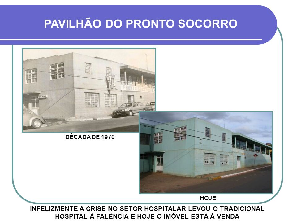 ENTRADA PRINCIPAL DÉCADA DE 1970 HOJE