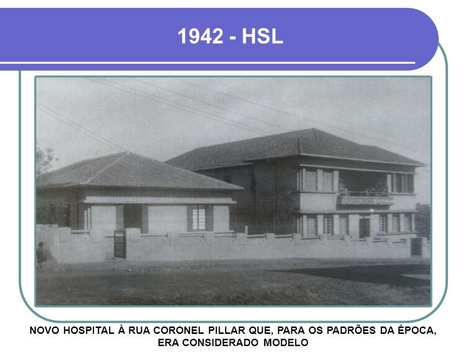 NOVO HOSPITAL À RUA CORONEL PILLAR QUE, PARA OS PADRÕES DA ÉPOCA, ERA CONSIDERADO MODELO 1942 - HSL