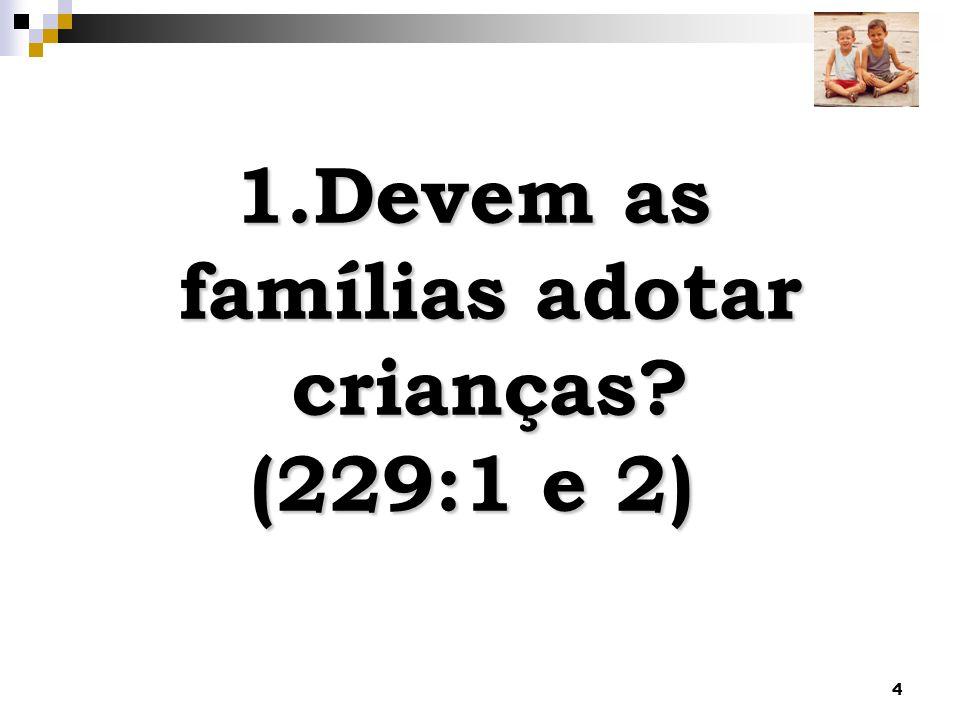 4 1.Devem as famílias adotar crianças? (229:1 e 2)