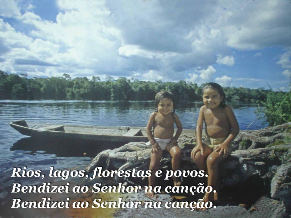Pelo pobre que se há de acolher. A Amazônia vai se converter. Na planície da fraternidade. Pelo pobre que se há de acolher. A Amazônia vai se converte