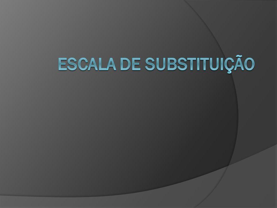 Escala de Substituição O que é escala de substituição.