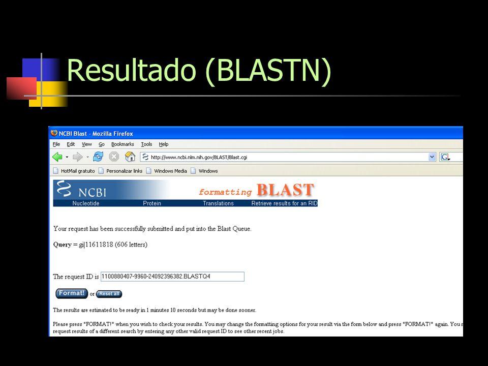 Resultado (BLASTN)