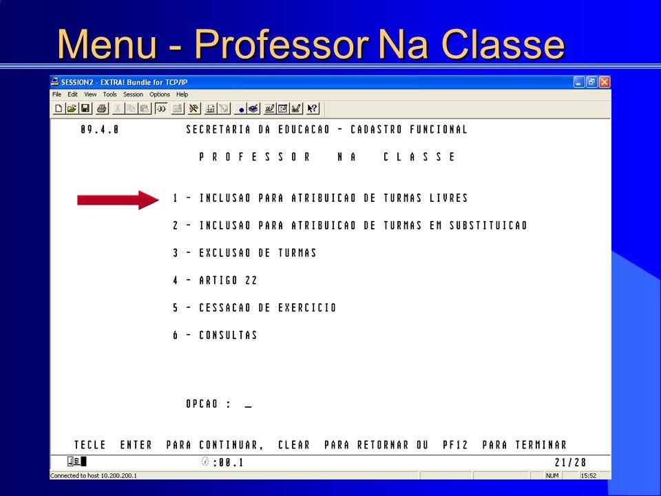 Menu - Professor Na Classe