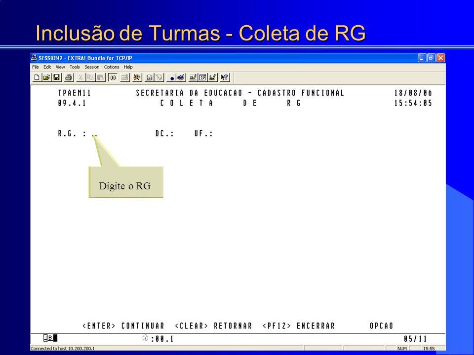 Consulta da Atribuição de Turmas Livres 6407 PROF. ED. BASICA I