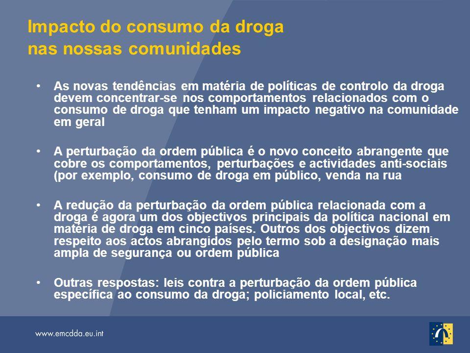 Impacto do consumo da droga nas nossas comunidades As novas tendências em matéria de políticas de controlo da droga devem concentrar-se nos comportame