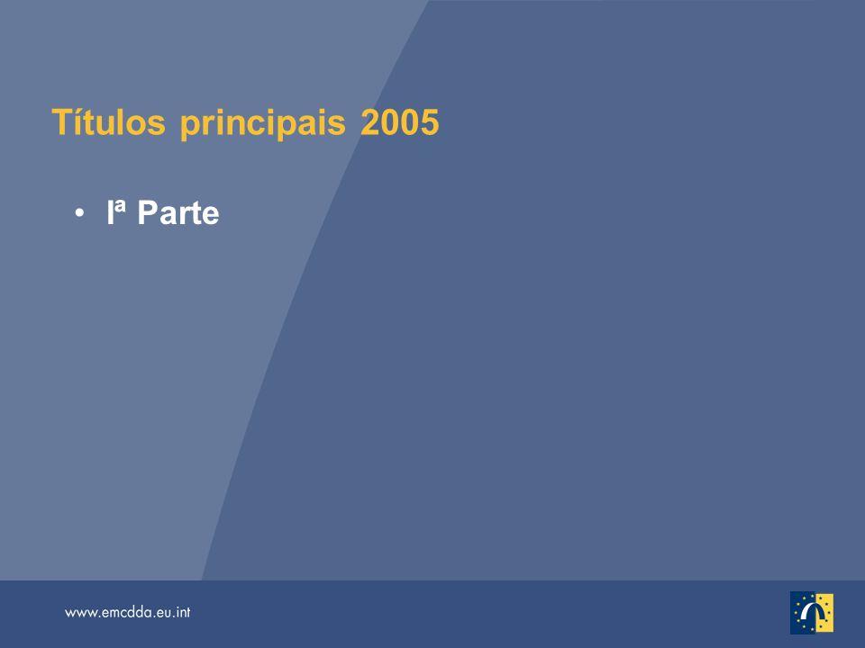 Títulos principais 2005 Iª Parte