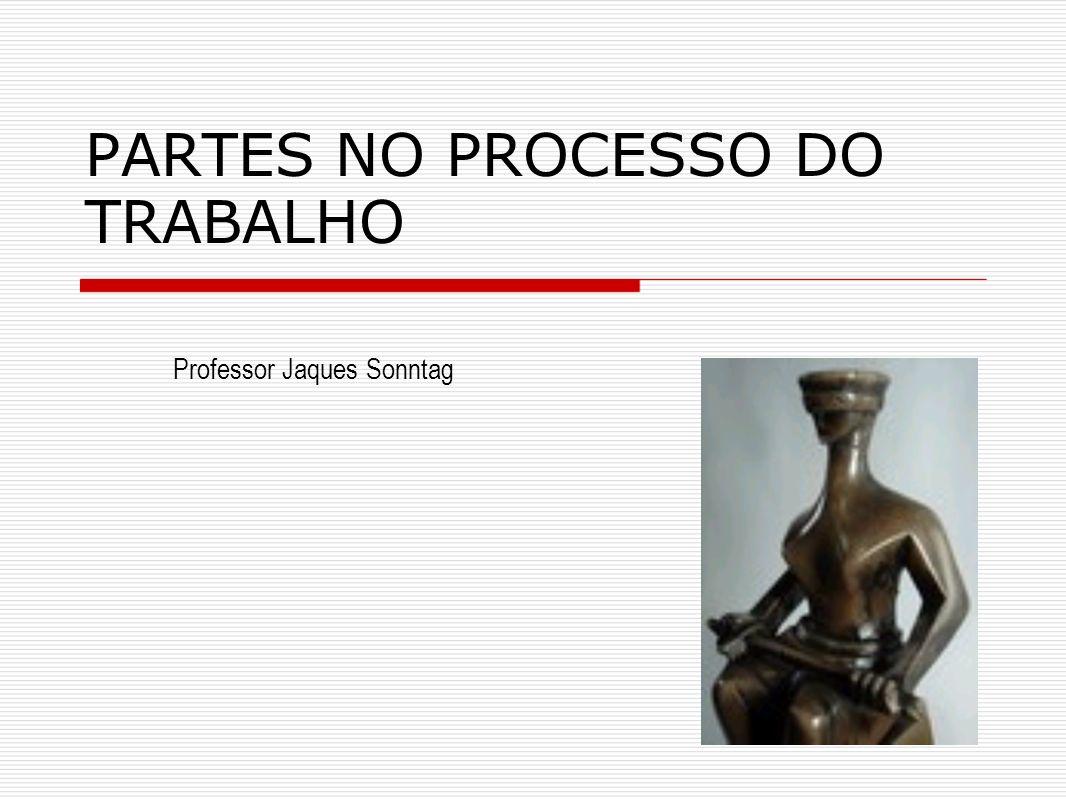 PARTES NO PROCESSO DO TRABALHO Professor Jaques Sonntag