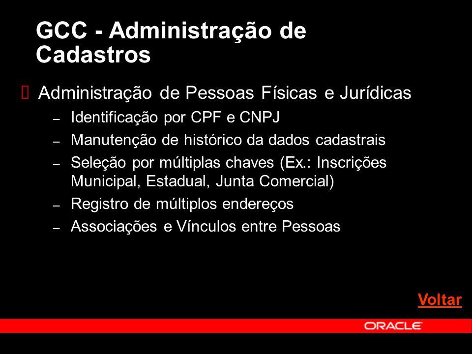 Administração de Pessoas Físicas e Jurídicas – Identificação por CPF e CNPJ – Manutenção de histórico da dados cadastrais – Seleção por múltiplas chav