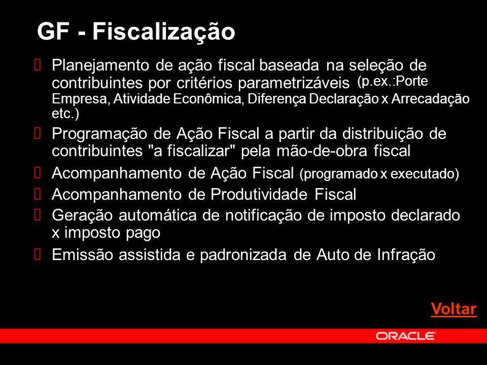 Planejamento de ação fiscal baseada na seleção de contribuintes por critérios parametrizáveis (p.ex.:Porte Empresa, Atividade Econômica, Diferença Dec