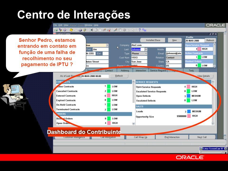 Centro de Interações Buenos días S. Lopez Llama por la promoción Dashboard do Contribuinte Senhor Pedro, estamos entrando em contato em função de uma