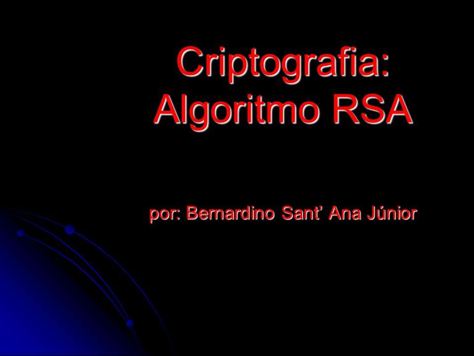 Objetivos - Apresentar uma revisão histórica da criptografia até surgimento do RSA - Descrição do RSA e apresentação da matemática envolvida