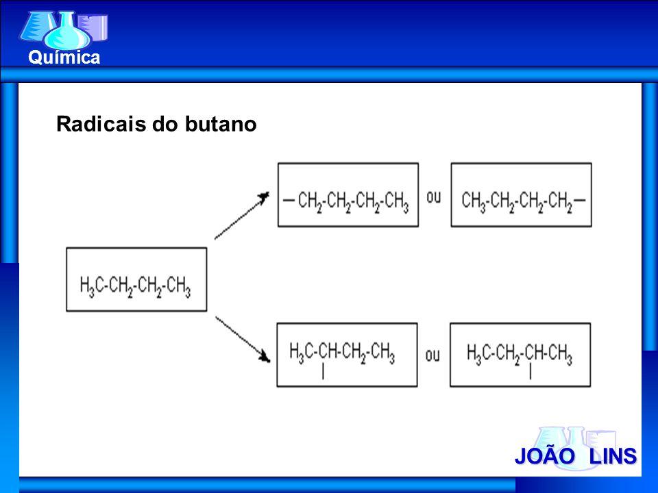 JOÃO LINS Química Radicais do butano