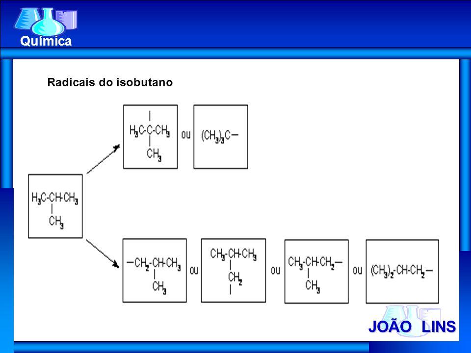 JOÃO LINS Química Radicais do isobutano
