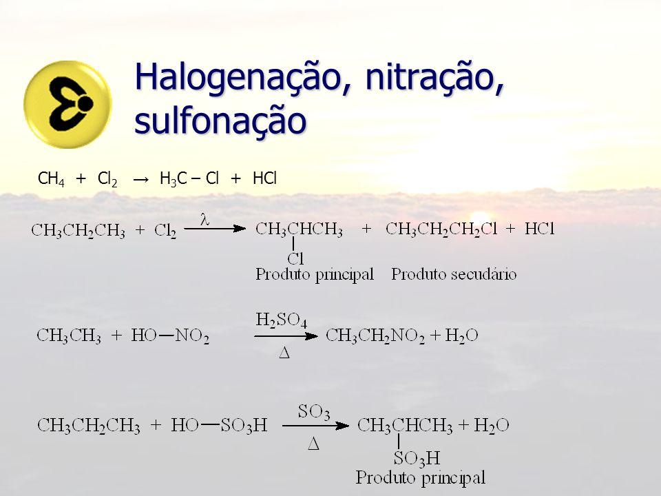 Substituição em Aromáticos Além das reações de: Halogenação (X 2 ) Nitração (HNO 3 ) Sulfonação (H 2 SO 4 ) Sofrem também as reações de: Alquilação de Friedel-Crafts (R-X) Acilação de Friedel-Crafts (R-COX)