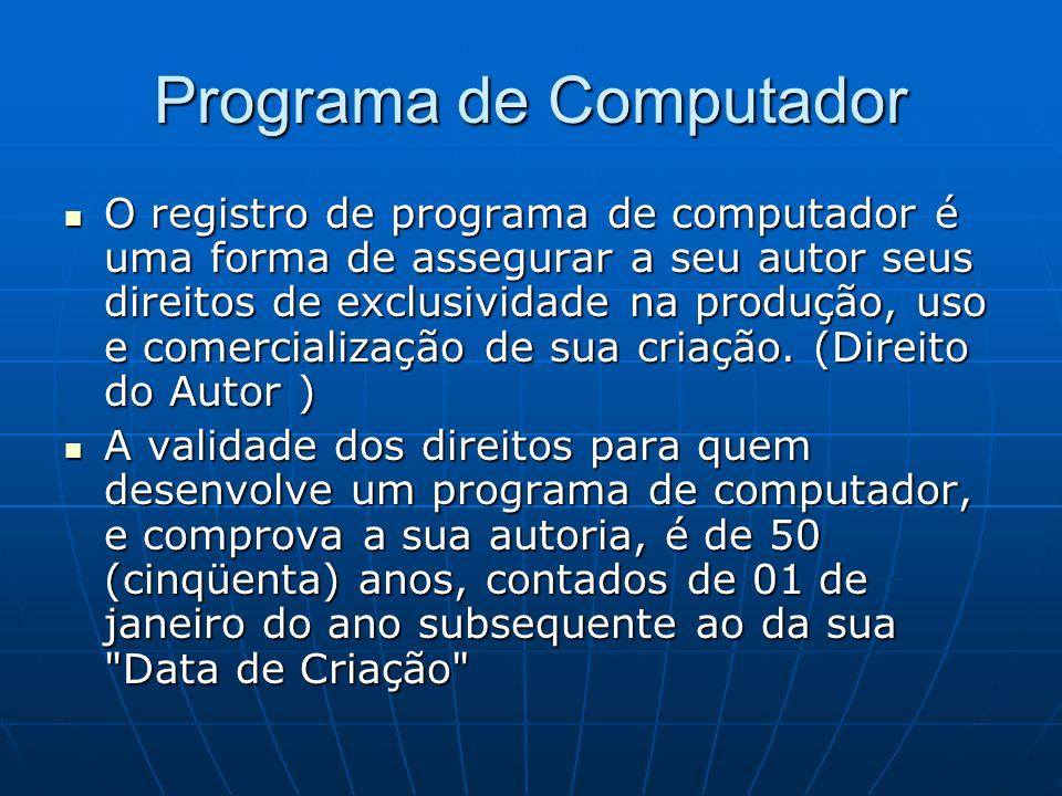 O registro de programa de computador é uma forma de assegurar a seu autor seus direitos de exclusividade na produção, uso e comercialização de sua cri
