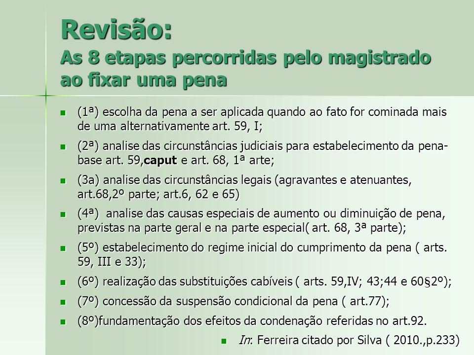 Revisão: As 8 etapas percorridas pelo magistrado ao fixar uma pena (1ª) escolha da pena a ser aplicada quando ao fato for cominada mais de uma alterna