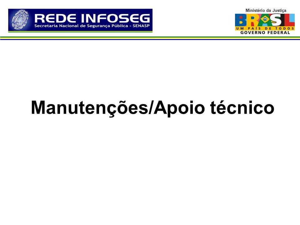 Ministério da Justiça Manutenções/Apoio técnico