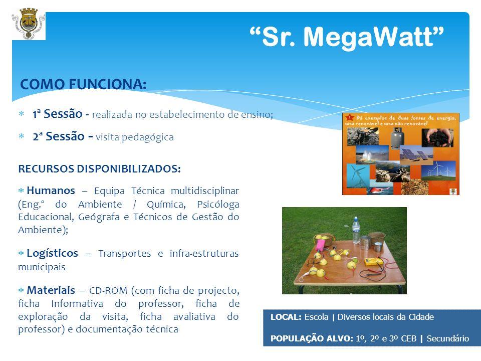 6 Sr. MegaWatt Exemplo de Materiais Pedagógicos: