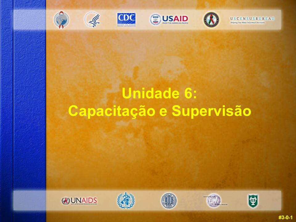 #3-0-1 Unidade 6: Capacitação e Supervisão