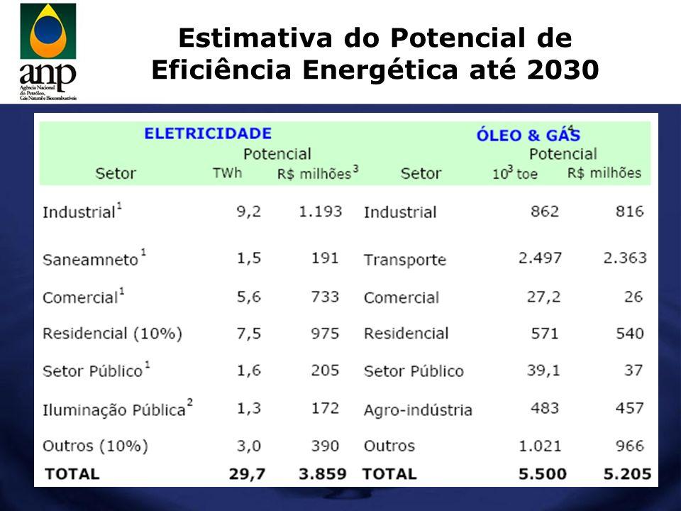 Estimativa do Potencial de Eficiência Energética até 2030