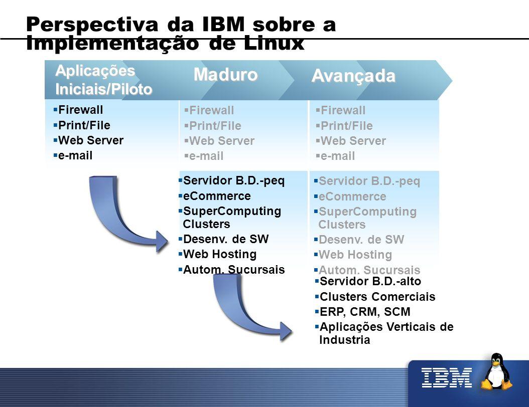 Servidor B.D.-alto Clusters Comerciais ERP, CRM, SCM Aplicações Verticais de Industria Servidor B.D.-peq eCommerce SuperComputing Clusters Desenv. de