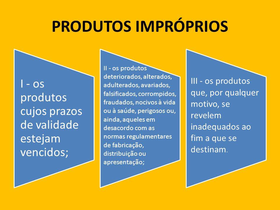 VÍCIO DE QUANTIDADE DO PRODUTO Art.19.