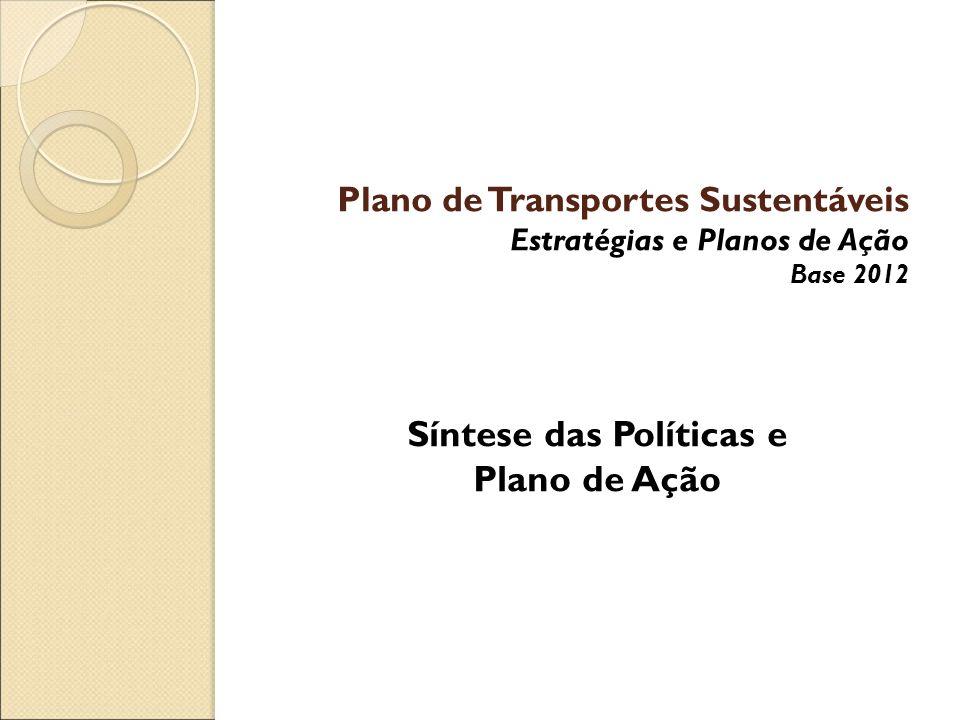 Plano de Transportes Sustentáveis Estratégias e Planos de Ação Base 2012 Síntese das Políticas e Plano de Ação