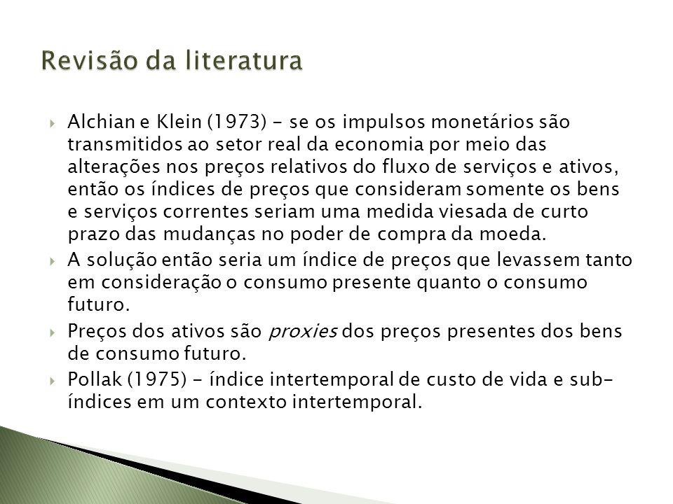 Alchian e Klein (1973) - se os impulsos monetários são transmitidos ao setor real da economia por meio das alterações nos preços relativos do fluxo de