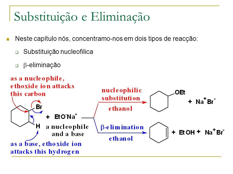 Substituição e Eliminação Neste capítulo nós, concentramo-nos em dois tipos de reacção: Substituição nucleofilica -eliminação