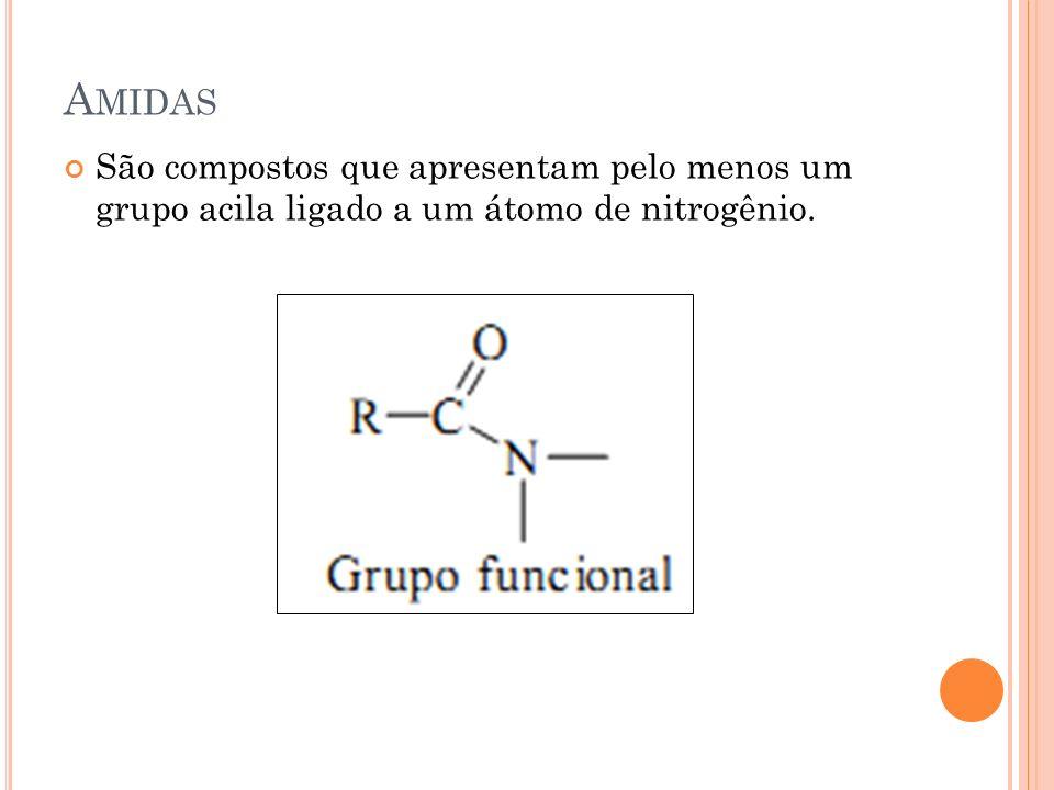 A MIDAS São compostos que apresentam pelo menos um grupo acila ligado a um átomo de nitrogênio.
