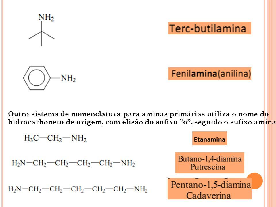 A MINAS COMPLEXAS O grupo (NH 2 ) pode ser citado como um substituinte da cadeia principal pelo prefixo amino junto com as ramificações ou no final como sufixo amina.