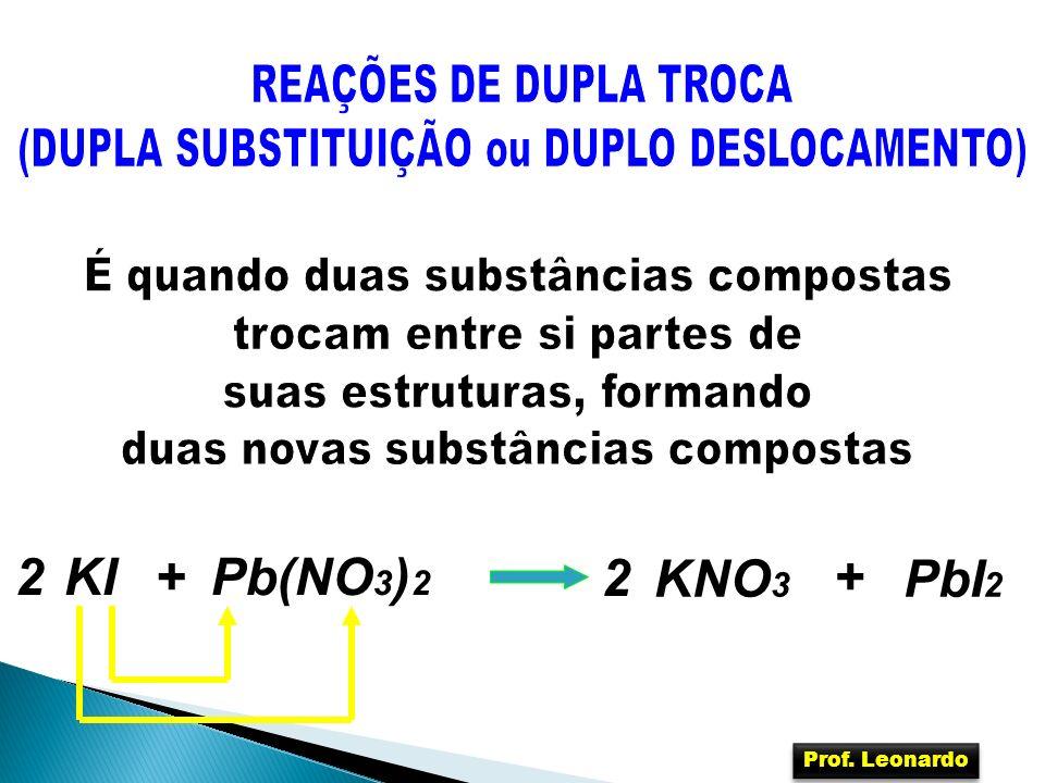 Pb(NO 3 ) 2 KI+ KNO 3 2+ PbI 2 2 Prof. Leonardo