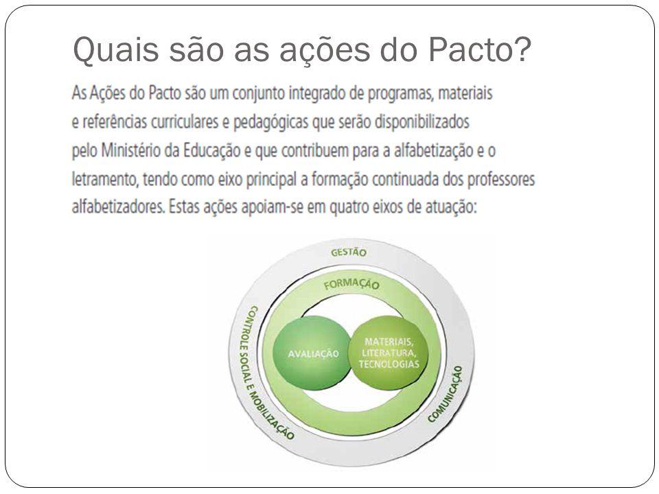 ORGANIZAÇÃO NECESSÁRIA PARA 2014: Verificar os professores que farão o Pacto – lembrar que o município será avaliado em resultados do Programa – através da Provinha Brasil e da ANA- Avaliação Nacional da Alfabetização.