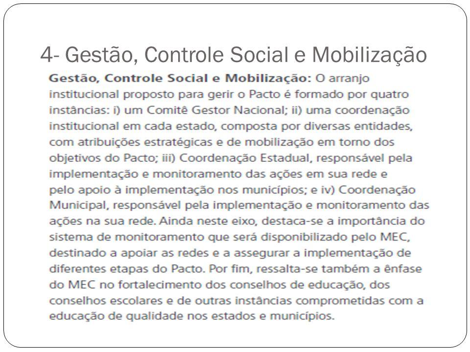 4- Gestão, Controle Social e Mobilização