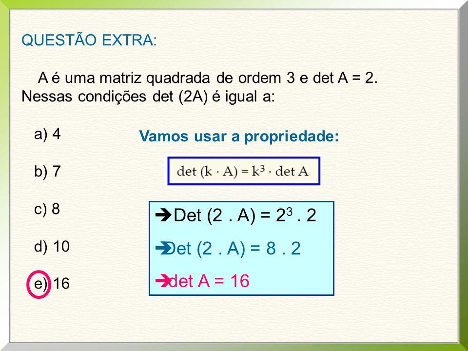 2 o ) Determinar m real para que o sistema seja possível e determinado.